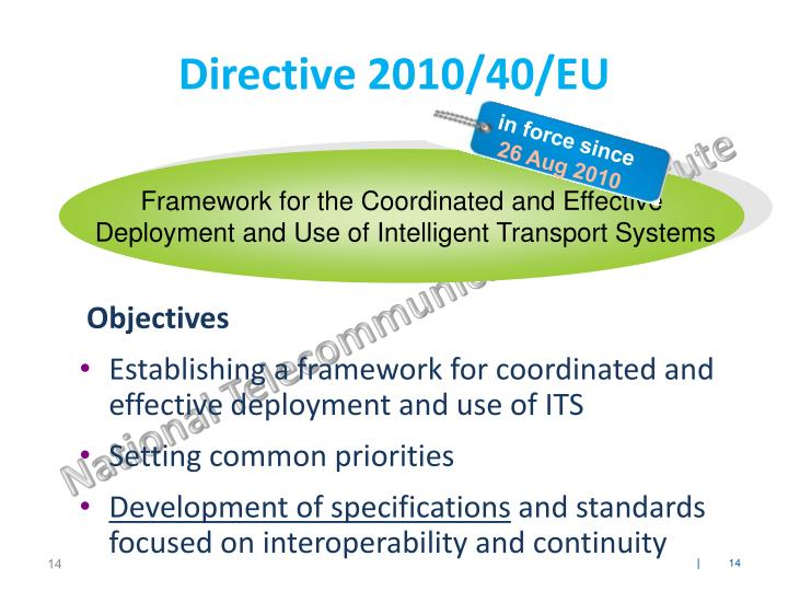 Framework for the Coordinated and Effective
