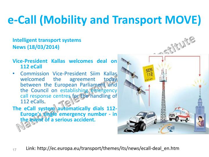 e-Call (Mobility and Transport MOVE)