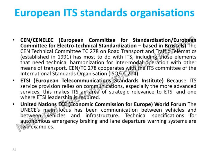 European ITS standards