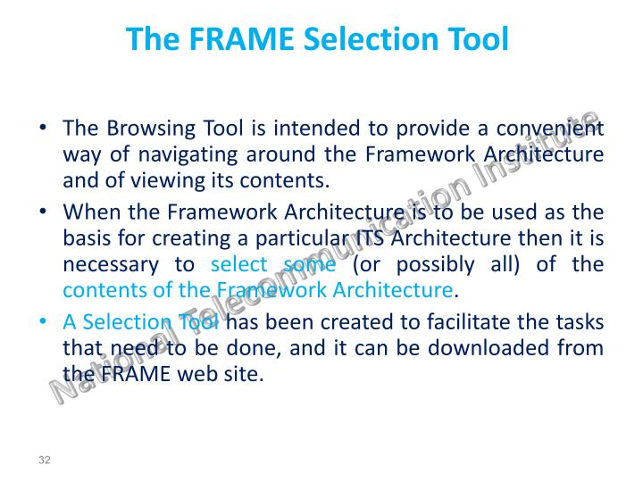 The FRAME Selection Tool