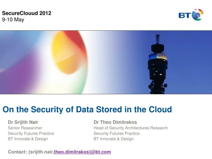 On the security of data stored in the cloud