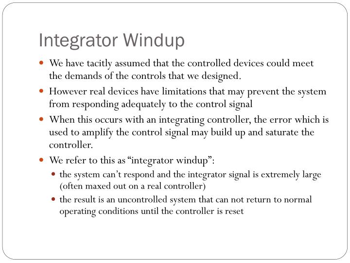 Integrator Windup