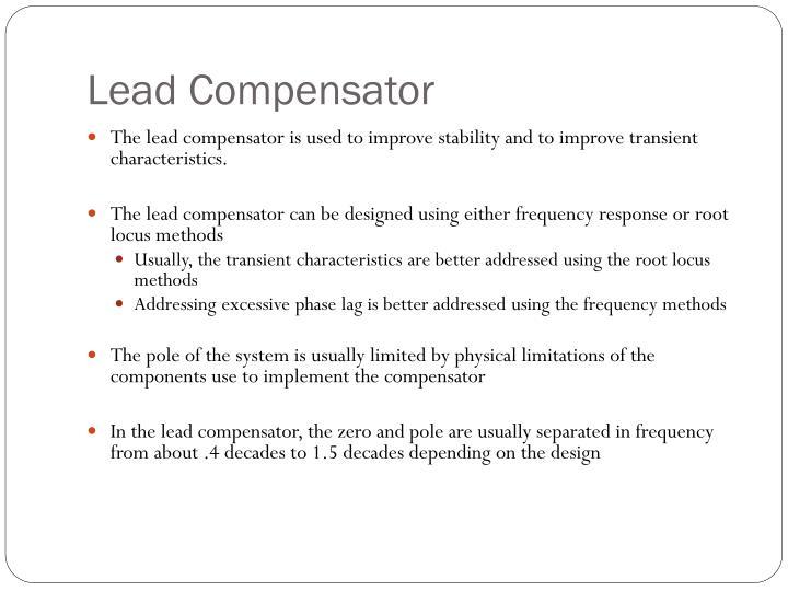 Lead Compensator