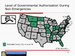 level of governmental authorization during non emergencies2