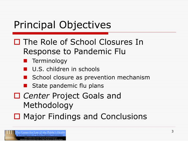 Principal Objectives