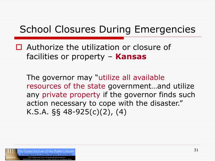 School Closures During Emergencies