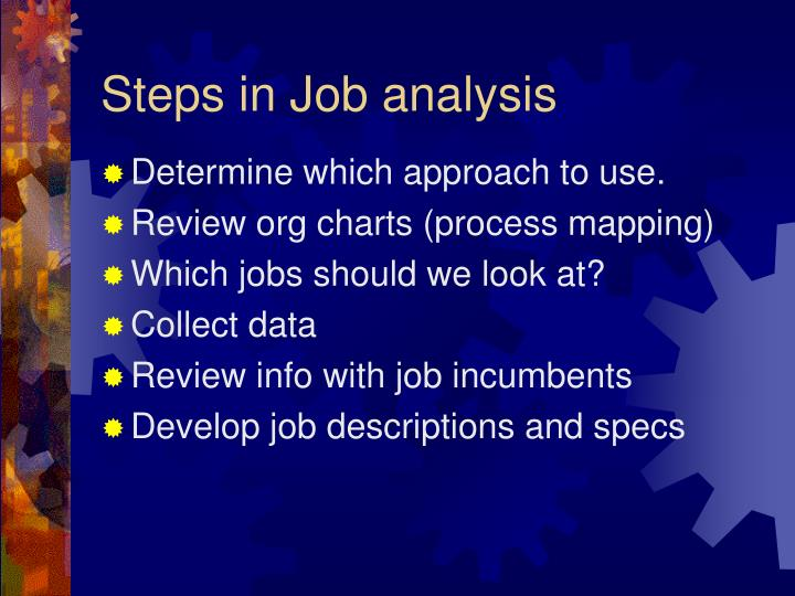 Steps in Job analysis