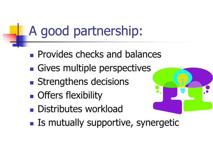 A good partnership: