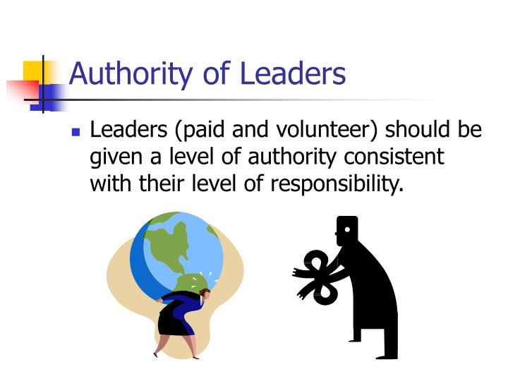 Authority of Leaders