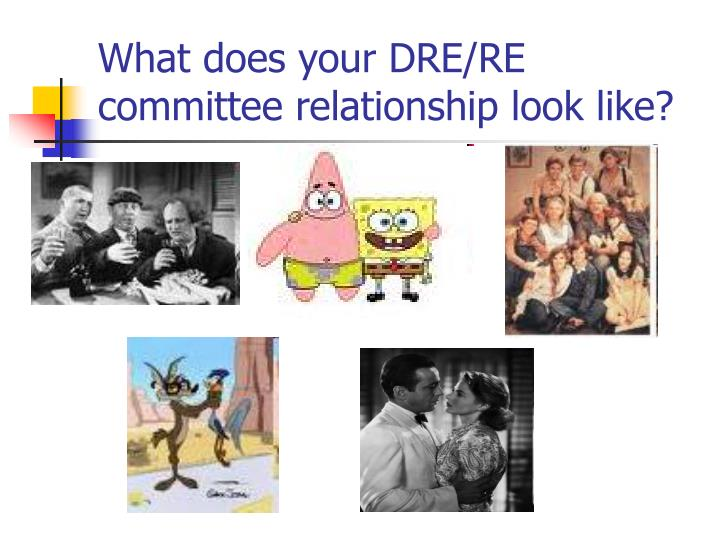 What does your DRE/RE committee relationship look like?