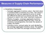 measures of supply chain performance