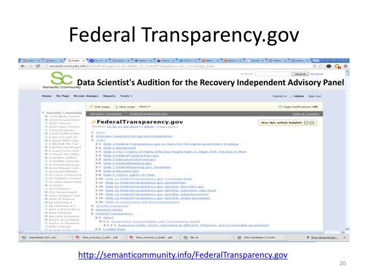 Federal Transparency.gov