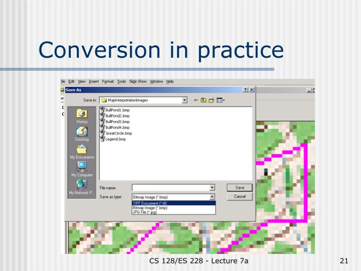 Conversion in practice