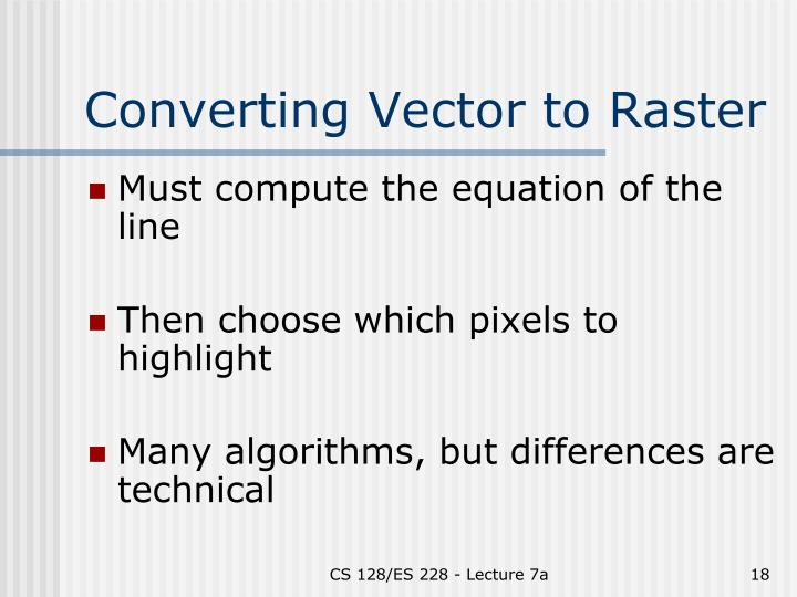 Converting Vector to Raster