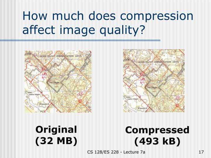 How much does compression affect image quality?
