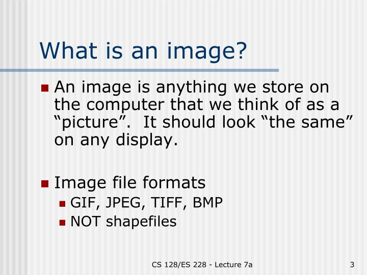 What is an image