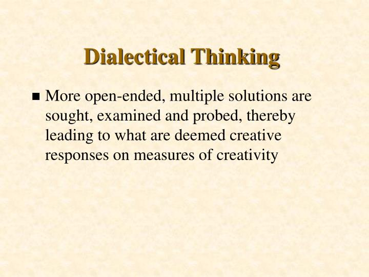 Dialectical Thinking