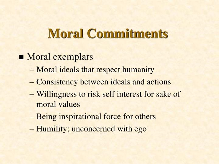 Moral Commitments