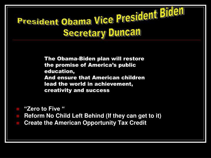 President Obama Vice President Biden