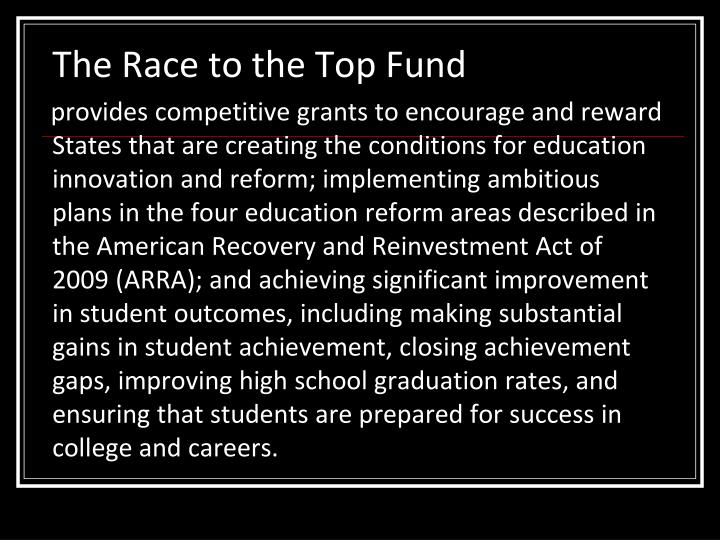 The Race to the Top Fund