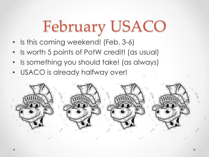 February USACO