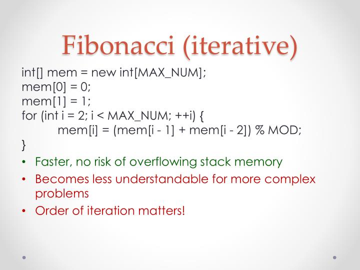 Fibonacci (iterative)