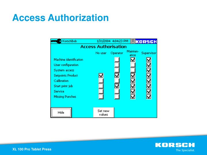 Access Authorization