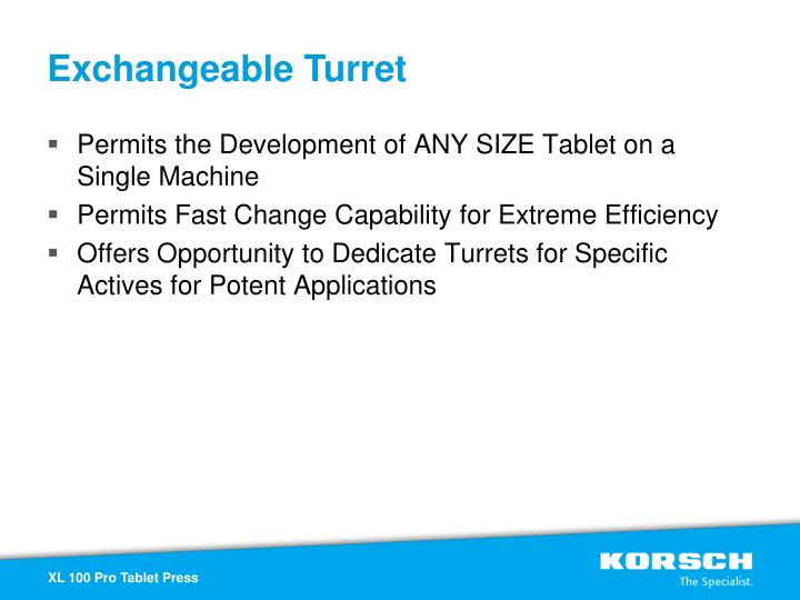 Exchangeable Turret