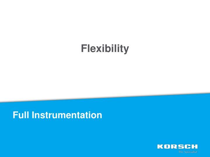 Full Instrumentation