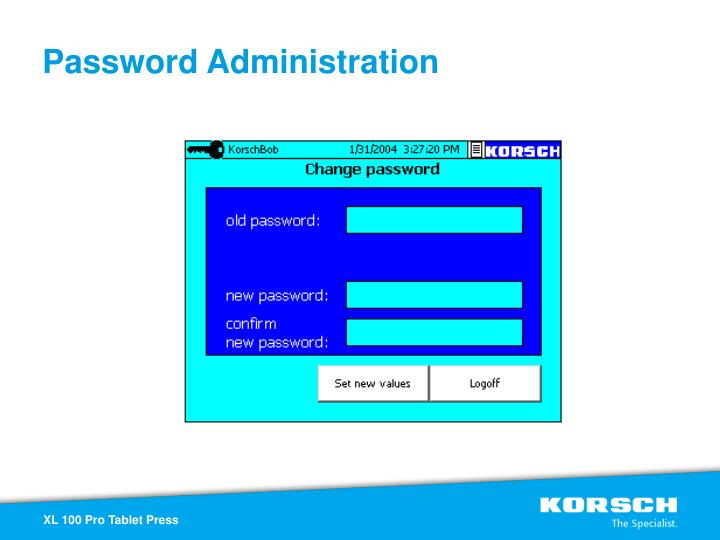 Password Administration