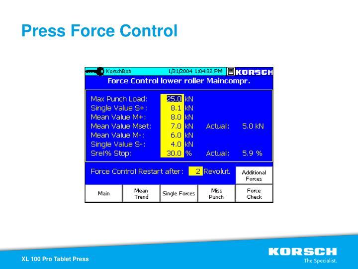 Press Force Control
