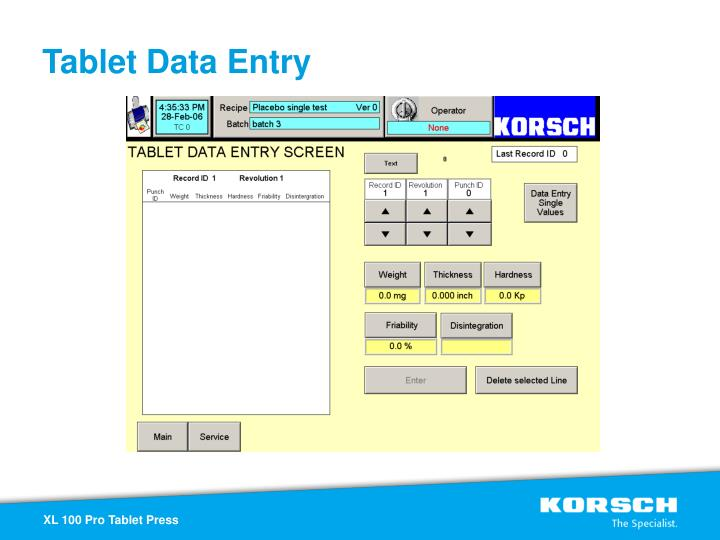 Tablet Data Entry