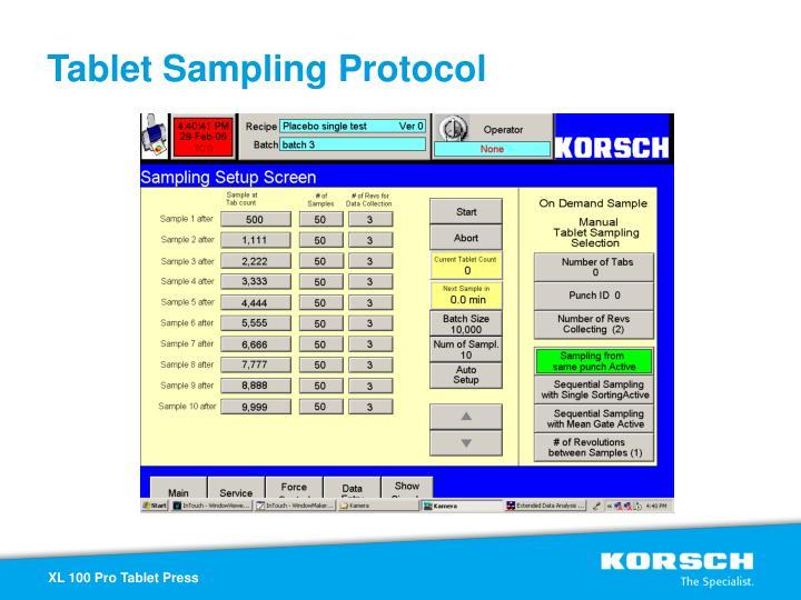 Tablet Sampling Protocol