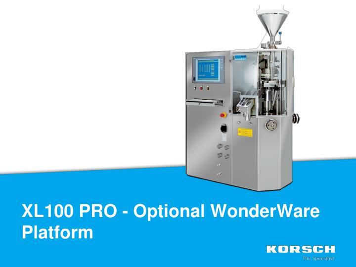 XL100 PRO - Optional WonderWare Platform