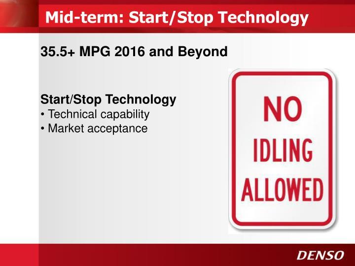 Mid-term: Start/Stop Technology