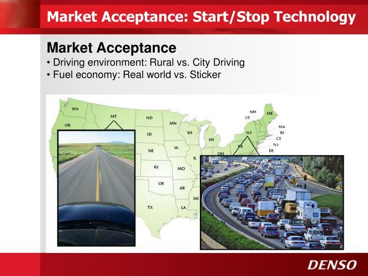 Market Acceptance: Start/Stop Technology