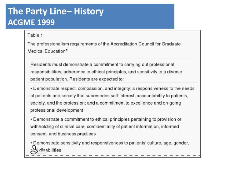 The Party Line– History