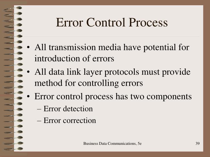 Error Control Process