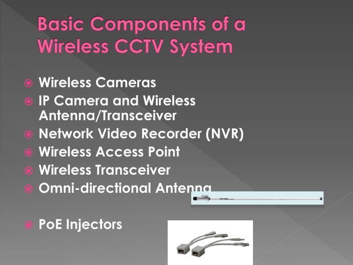 Basic Components of a Wireless CCTV System