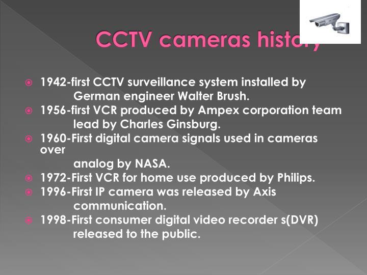 CCTV cameras history