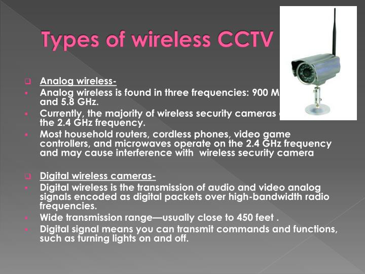 Types of wireless CCTV
