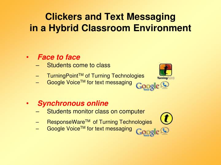 Clickers and Text Messaging