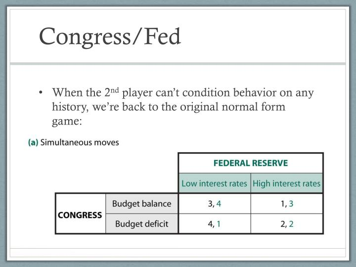 Congress/Fed