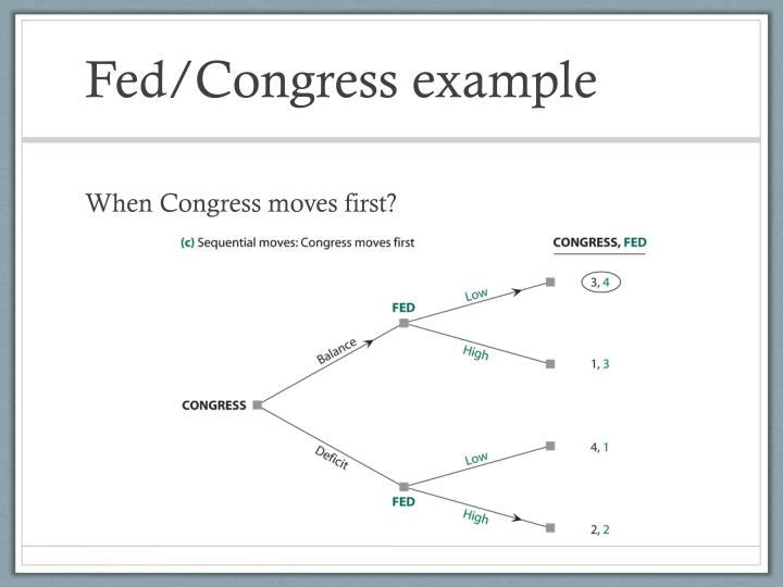 Fed/Congress example