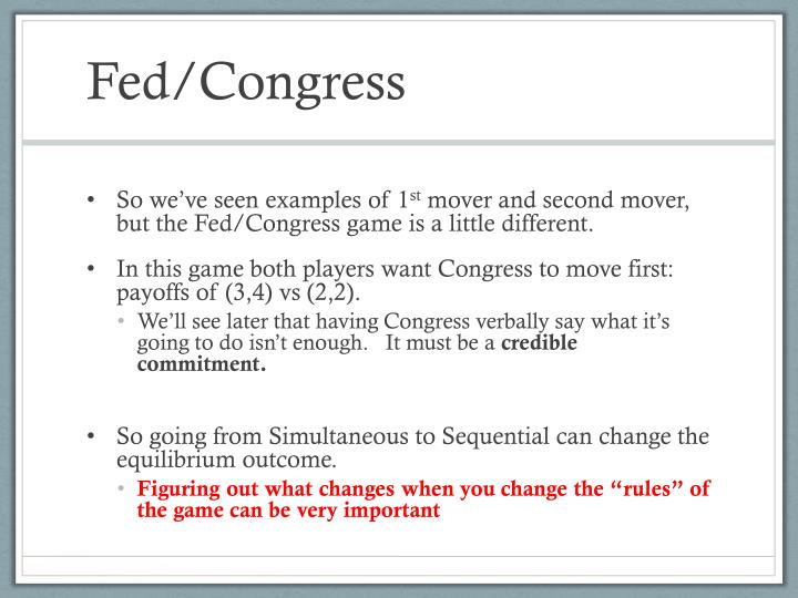 Fed/Congress