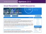 email newsletter suny discoveries