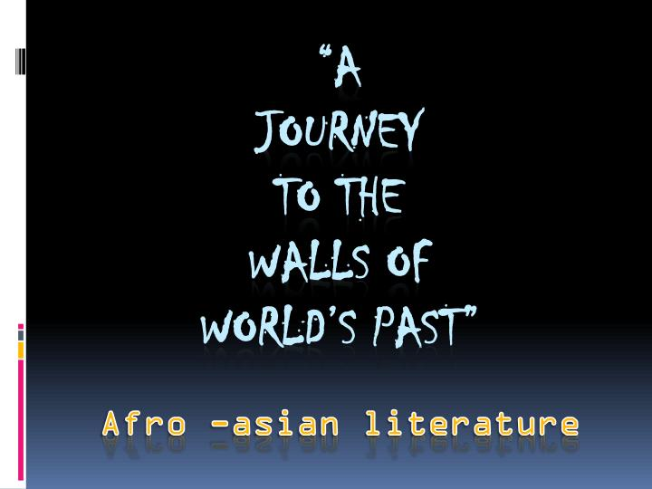 Afro asian literature