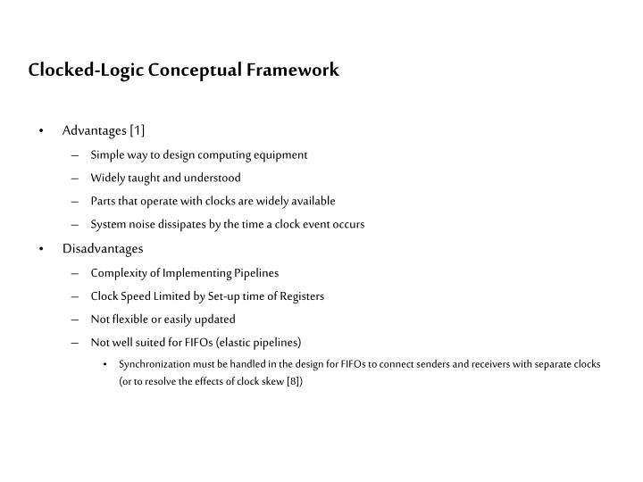 Clocked-Logic Conceptual Framework
