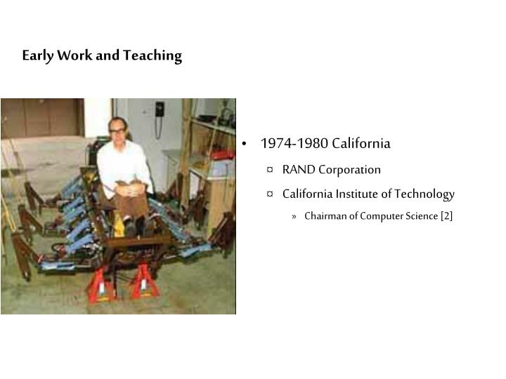 Early Work and Teaching