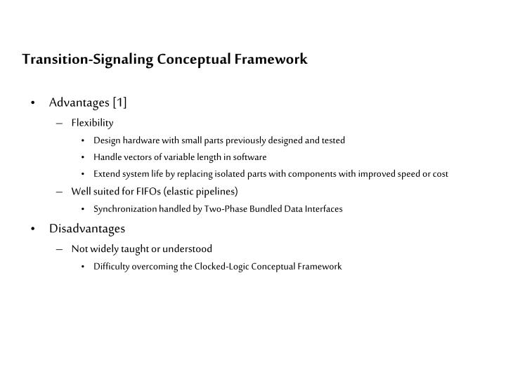 Transition-Signaling Conceptual Framework